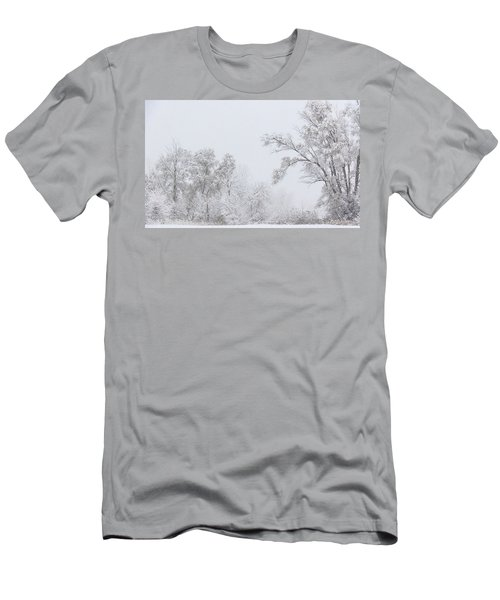 Snowing In A Starbucks Parking Lot Men's T-Shirt (Athletic Fit)