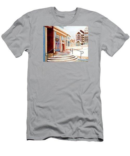 Snowshoe Village Shops Men's T-Shirt (Slim Fit) by Shelia Kempf