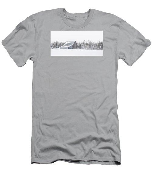 Snowy Barn Men's T-Shirt (Slim Fit) by Dan Traun