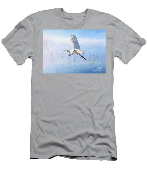 Snowy Egret Morning Men's T-Shirt (Athletic Fit)