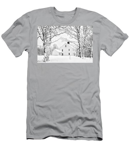 Snowy New England Homestead Men's T-Shirt (Athletic Fit)