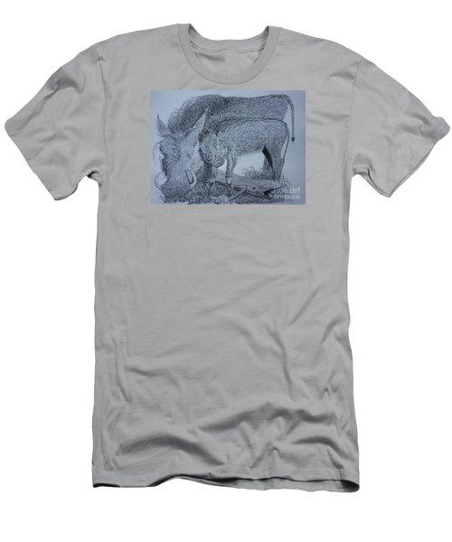 Snuggle Men's T-Shirt (Slim Fit) by David Joyner