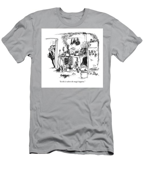 So This Is Where The Magic Happens Men's T-Shirt (Athletic Fit)
