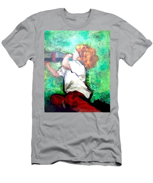 Men's T-Shirt (Athletic Fit) featuring the digital art Soda Pop Child by Deleas Kilgore