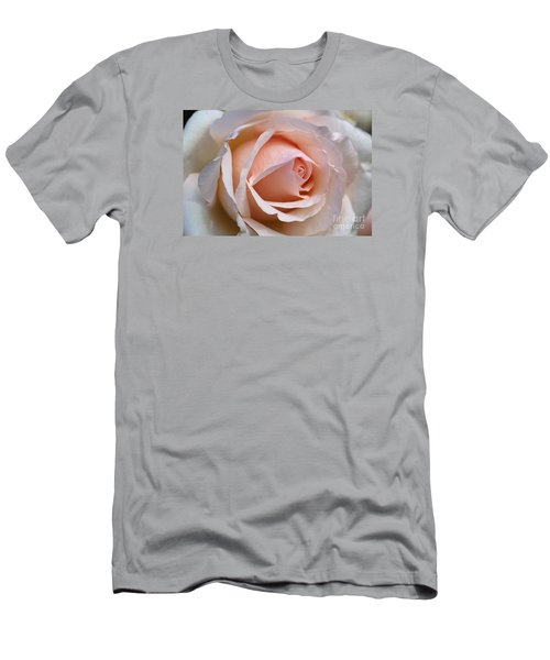 Soft Rose Men's T-Shirt (Slim Fit) by Joy Watson