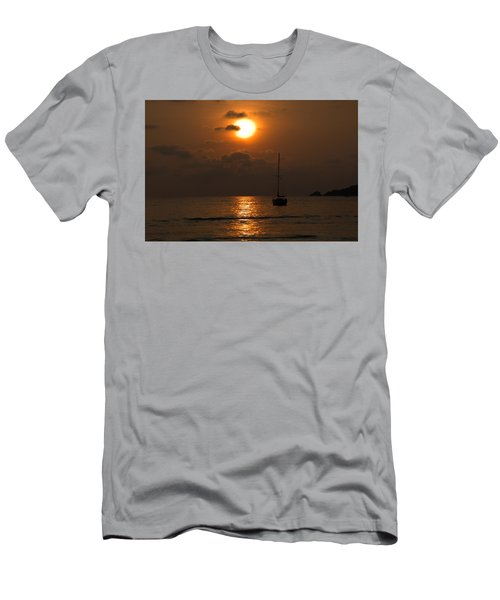 Men's T-Shirt (Slim Fit) featuring the photograph Solitude by Jim Walls PhotoArtist