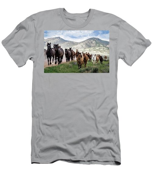 Sombrero Ranch Horse Drive, An Annual Event In Maybell, Colorado Men's T-Shirt (Athletic Fit)