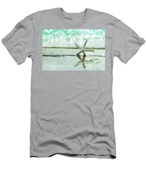 Somewhere You Feel Free Men's T-Shirt (Slim Fit) by Laura Fasulo