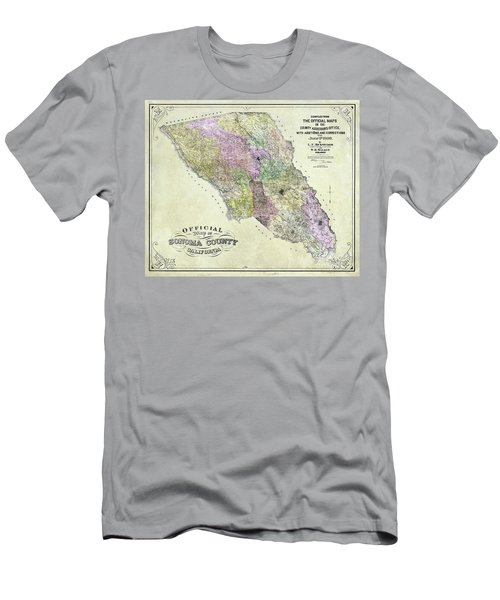 Sonoma County Map 1900 Men's T-Shirt (Athletic Fit)