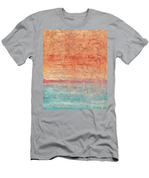 Sonoran Desert #1 Southwest Vertical Landscape Original Fine Art Acrylic On Canvas Men's T-Shirt (Athletic Fit)