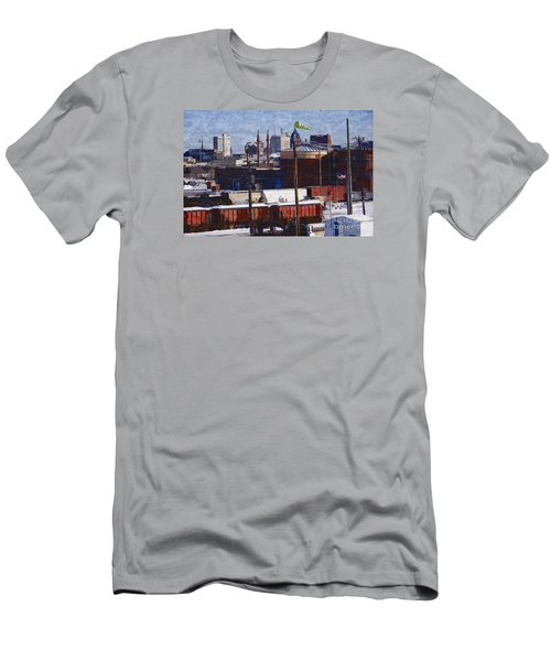 Soo Line Men's T-Shirt (Slim Fit) by David Blank