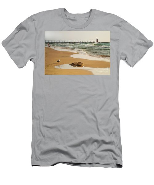 South Haven Lighthouse Men's T-Shirt (Athletic Fit)