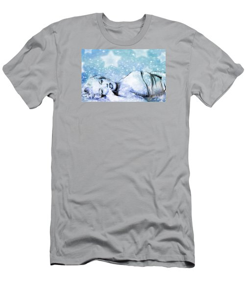 Sparkle Queen Men's T-Shirt (Slim Fit) by Greg Sharpe