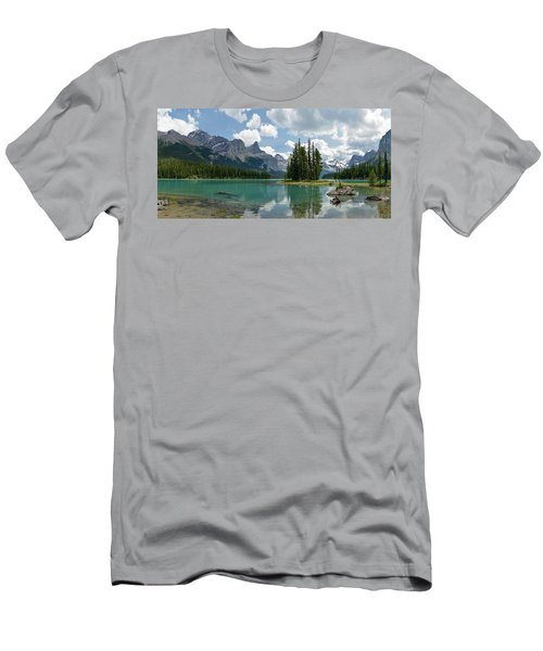 Spirit Island And The Hall Of The Gods Men's T-Shirt (Slim Fit) by Sebastien Coursol