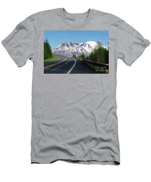 Spirit Lake Highway To Mt. St. Helens Men's T-Shirt (Athletic Fit)