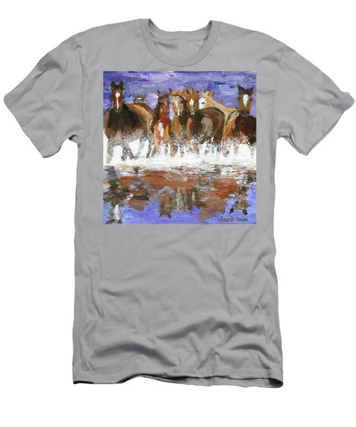 Men's T-Shirt (Athletic Fit) featuring the painting Splashing Around by Jamie Frier