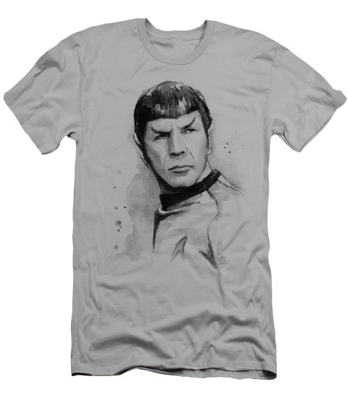 Spock Portrait Men's T-Shirt (Slim Fit) by Olga Shvartsur