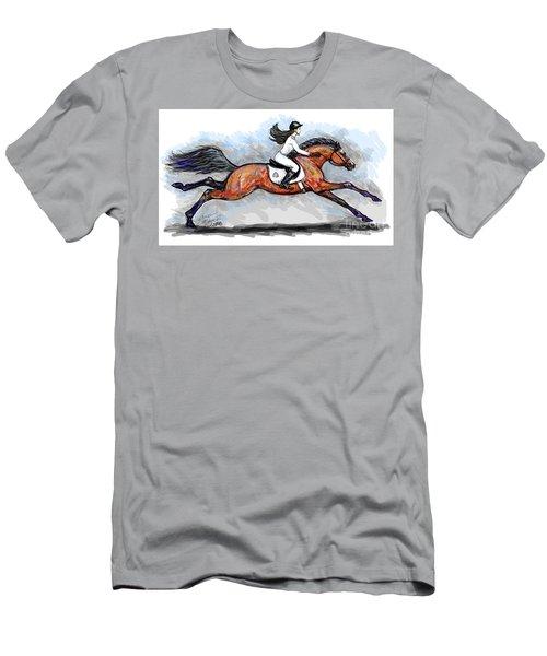 Sport Horse Rider Men's T-Shirt (Athletic Fit)