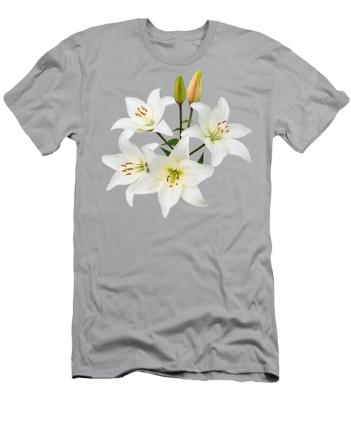 Spray Of White Lilies Men's T-Shirt (Athletic Fit)