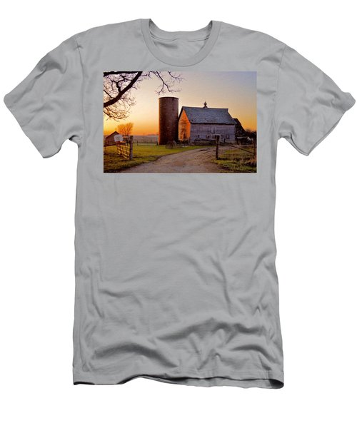 Spring At Birch Barn Men's T-Shirt (Slim Fit) by Bonfire Photography