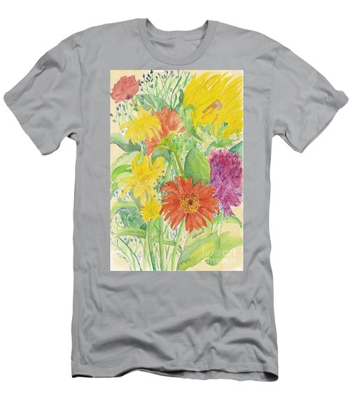 Men's T-Shirt (Slim Fit) featuring the painting Spring Bouquet  by Vicki  Housel