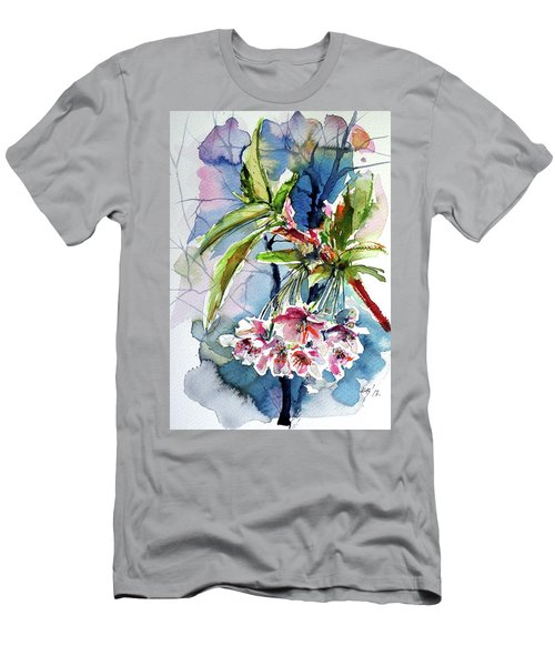 Men's T-Shirt (Slim Fit) featuring the painting Spring Flower by Kovacs Anna Brigitta