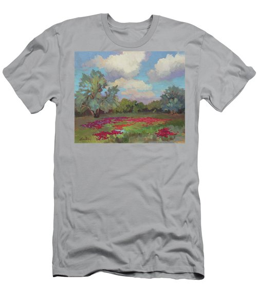 Men's T-Shirt (Slim Fit) featuring the painting Spring Poppies by Diane McClary