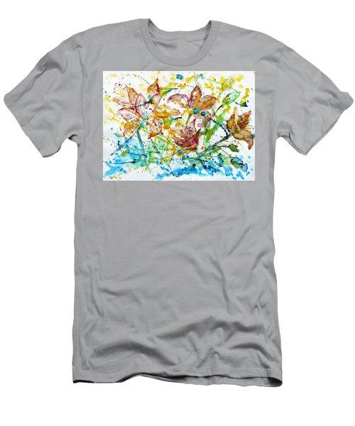 Spring Rhapsody Men's T-Shirt (Slim Fit) by Jasna Dragun