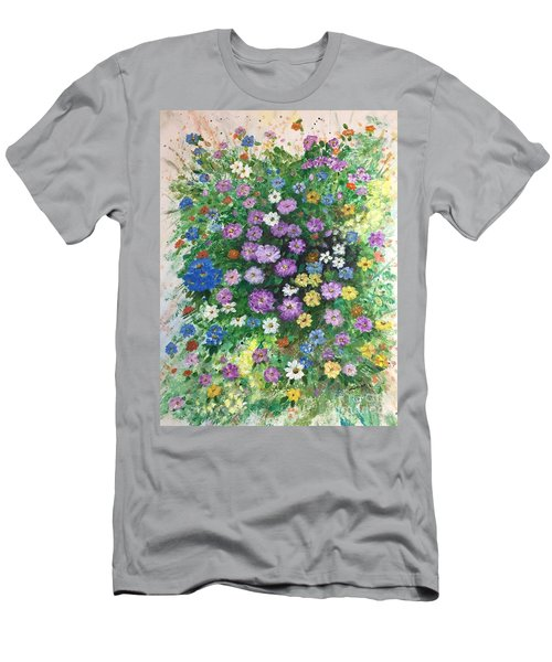 Spring Splendor Men's T-Shirt (Slim Fit) by Lucia Grilletto