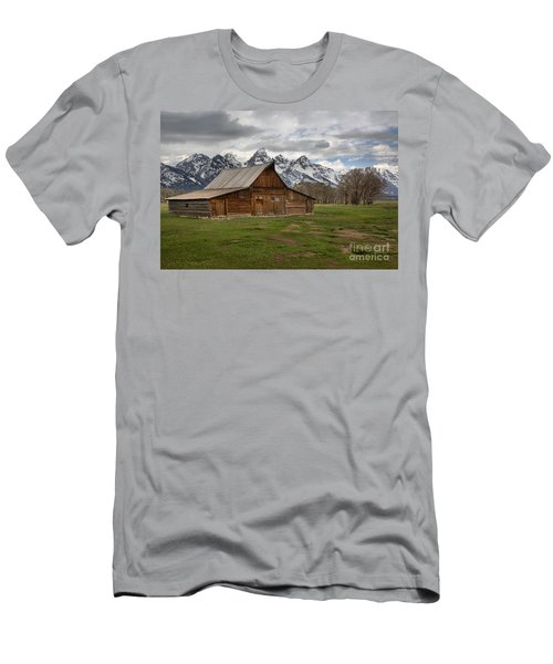 Spring Storms Over The Moulton Barn Men's T-Shirt (Slim Fit) by Adam Jewell