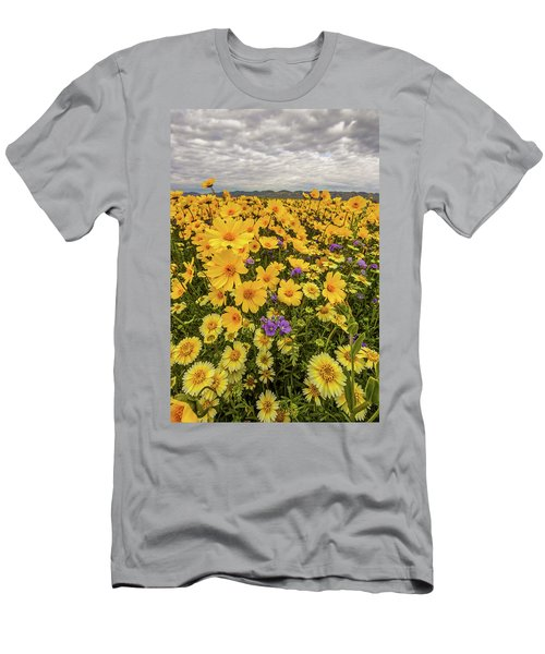 Men's T-Shirt (Slim Fit) featuring the photograph Spring Super Bloom by Peter Tellone