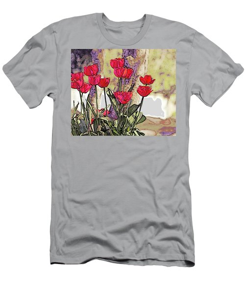 Spring Tulips Men's T-Shirt (Athletic Fit)