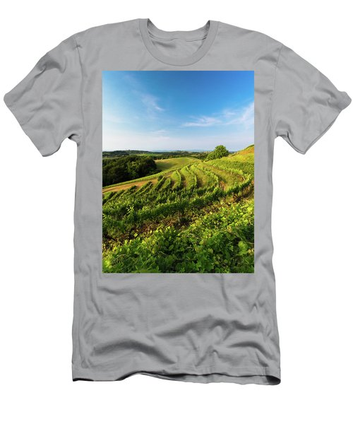 Men's T-Shirt (Athletic Fit) featuring the photograph Spring Vinyard by Davor Zerjav