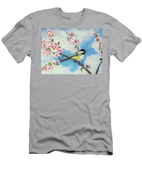 Men's T-Shirt (Slim Fit) featuring the painting Spring's Promise by Donna Tucker