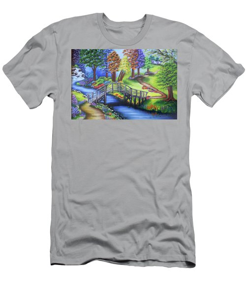 Springtime In The Park Men's T-Shirt (Athletic Fit)
