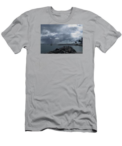 Squall In Simpson Bay St Maarten Men's T-Shirt (Slim Fit) by Christopher Kirby