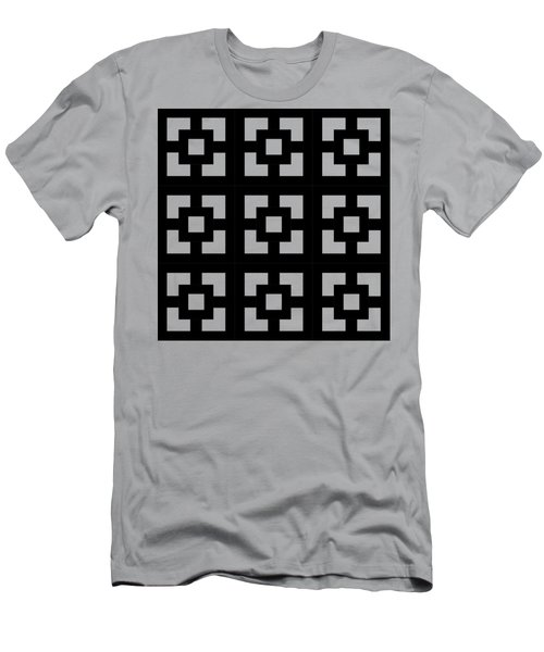 Men's T-Shirt (Slim Fit) featuring the digital art Squares Multiview by Chuck Staley