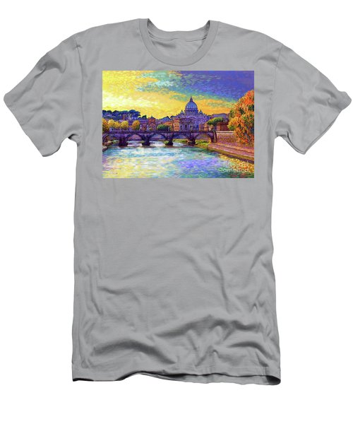 St Angelo Bridge Ponte St Angelo Rome Men's T-Shirt (Athletic Fit)