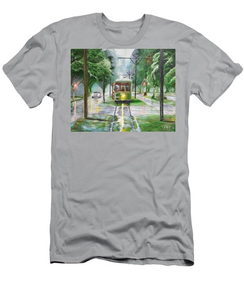 St. Charles Avenue Trolley Men's T-Shirt (Athletic Fit)