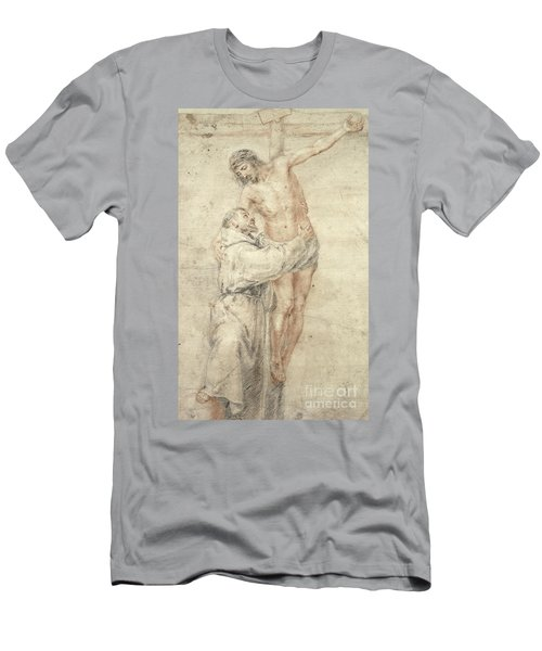 St Francis Rejecting The World And Embracing Christ Men's T-Shirt (Athletic Fit)