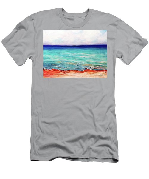 Men's T-Shirt (Slim Fit) featuring the painting St. George Island Breeze by Ecinja Art Works