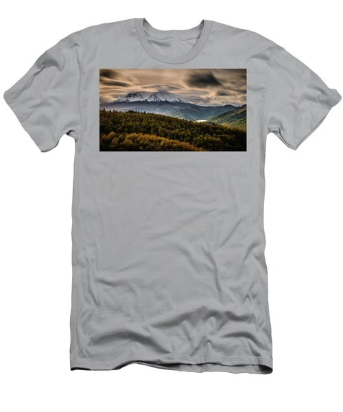 Men's T-Shirt (Athletic Fit) featuring the photograph St. Helens Wrath by Dan Mihai