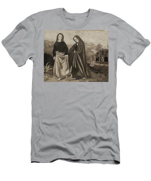 St. John And Blessed Mother At The Tomb Men's T-Shirt (Athletic Fit)
