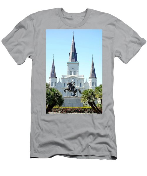 St. Louis Cathedral From Jackson Square Men's T-Shirt (Athletic Fit)
