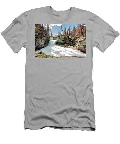 Men's T-Shirt (Athletic Fit) featuring the photograph St. Mary Falls by Margaret Pitcher