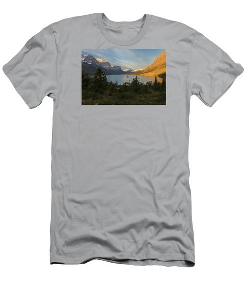 St. Mary Lake Men's T-Shirt (Slim Fit) by Gary Lengyel