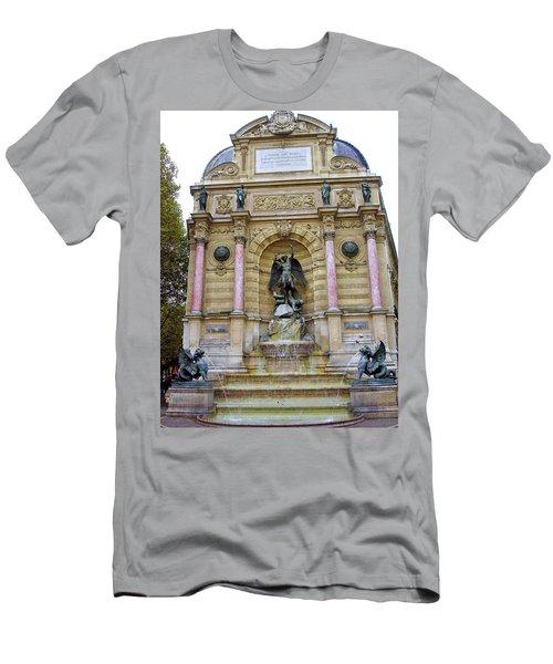 St. Michael's Fountain Men's T-Shirt (Athletic Fit)