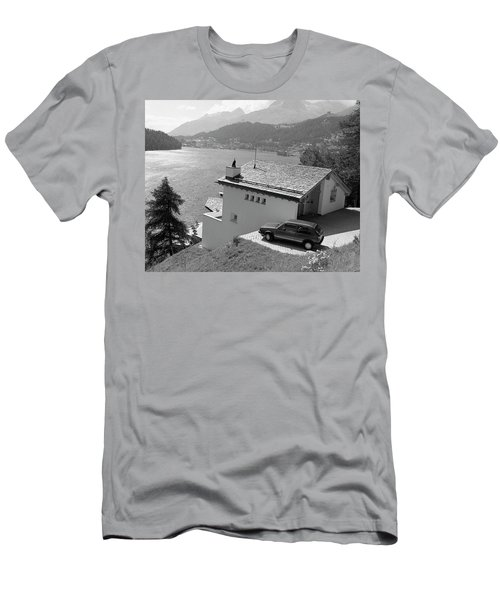 St Moritz Men's T-Shirt (Slim Fit) by Jim Mathis