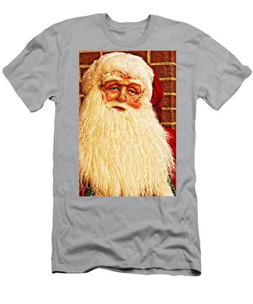 St. Nicholas Melting Canvas Photoart Men's T-Shirt (Athletic Fit)