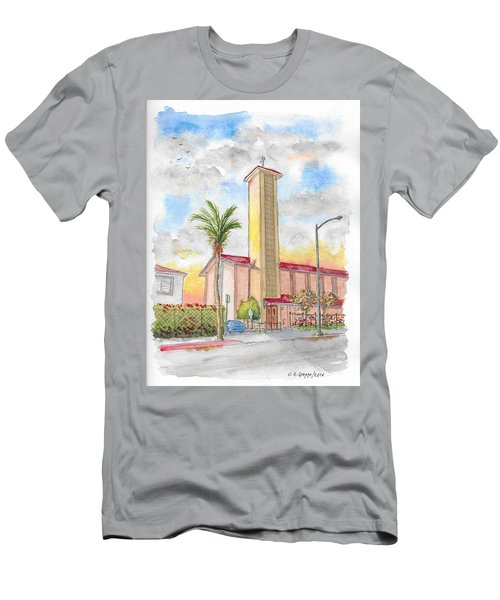 St. Victor's Catholic Church, West Hollywood, Ca Men's T-Shirt (Athletic Fit)